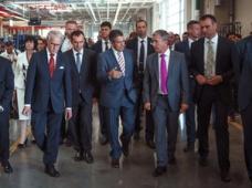 Российский завод CLAAS посетил вице-канцлер Германии Зигмар Габриэль